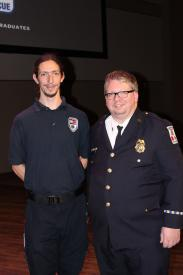 Fall 2016 EMT Top Student Edwin McGee with Training Officer McDonald