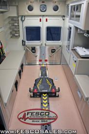 "Ambulance 635B - Interior Stryker ""Power Lift"" system"